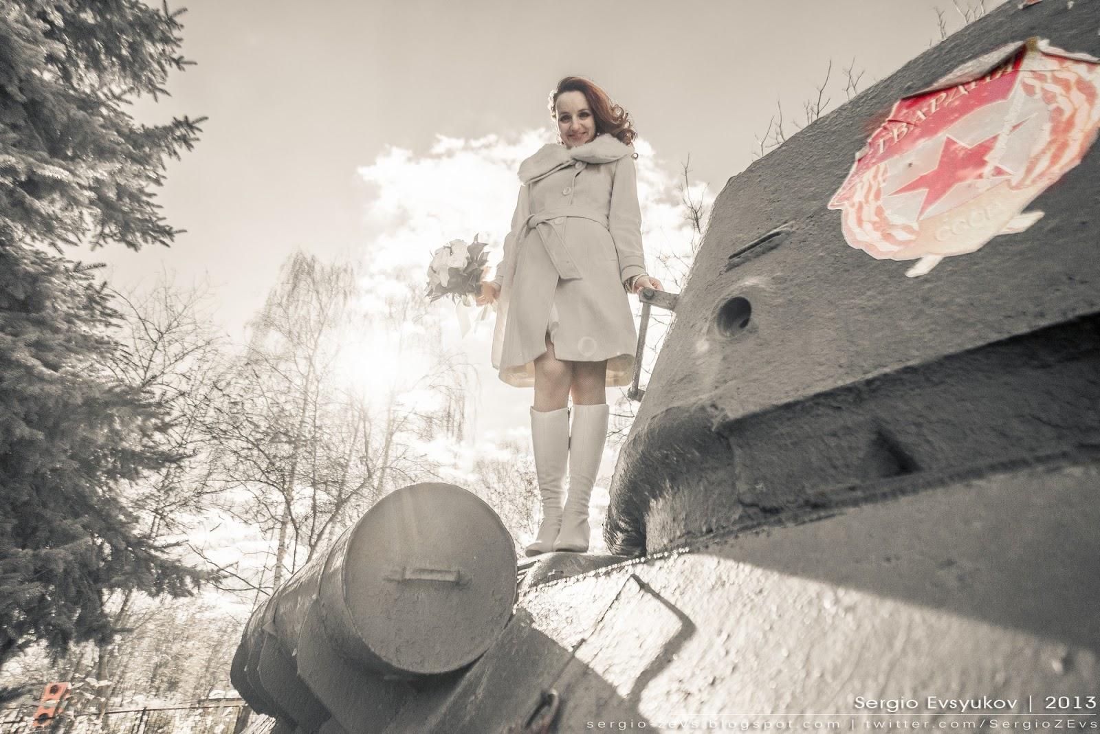 Оксана на танке
