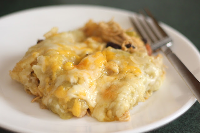 Chicken, Fresh Corn and Three Bean Enchiladas recipe by Barefeet In The Kitchen