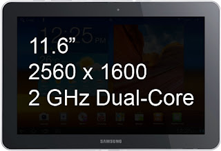 Samsung Galaxy Tab 11.6 with Retina Display - Specs Leaked