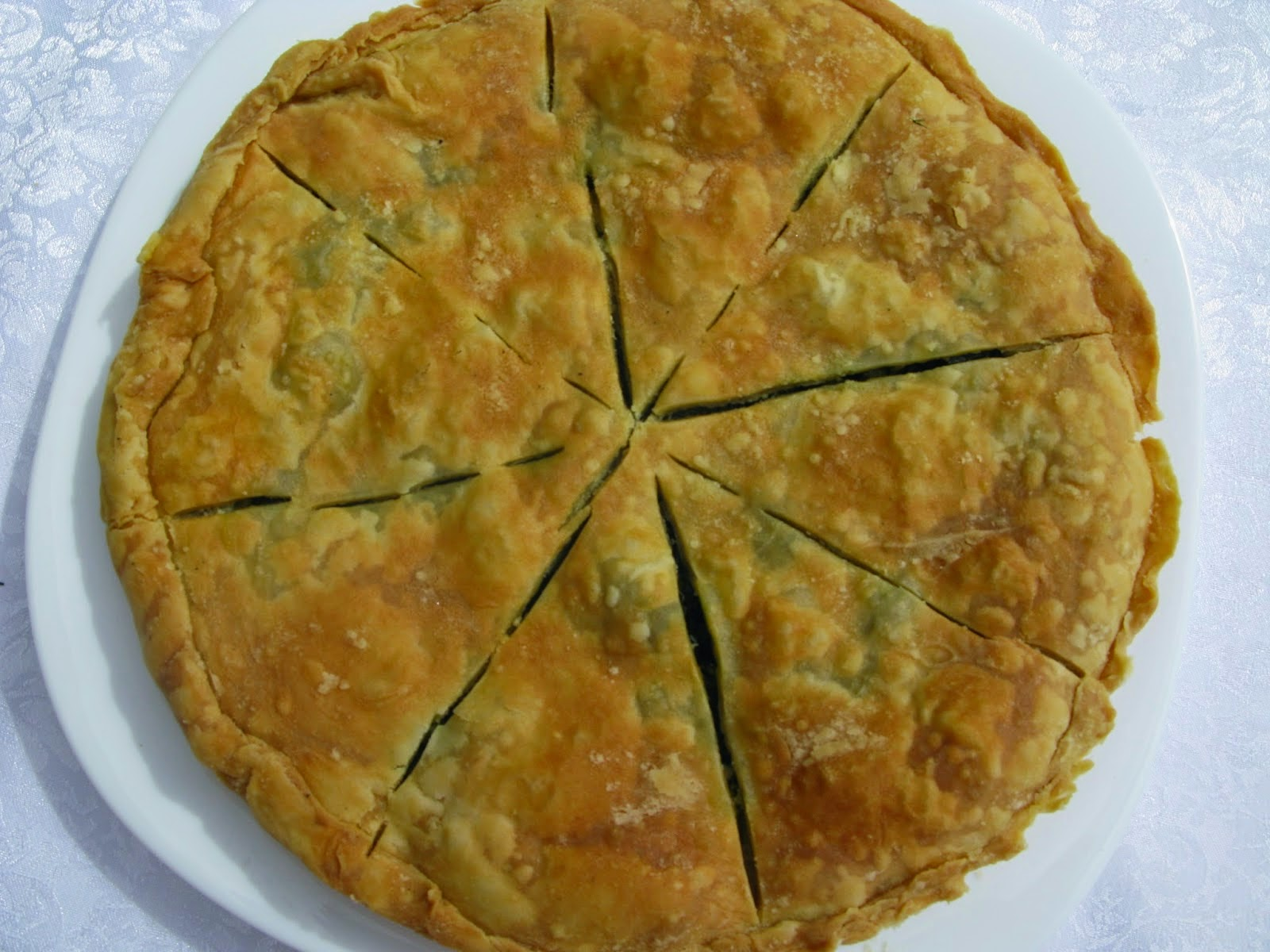 Mediterranean Diet, Monastic Recipes of Holy Mount Athos, Mushroom Pie with Spinach,