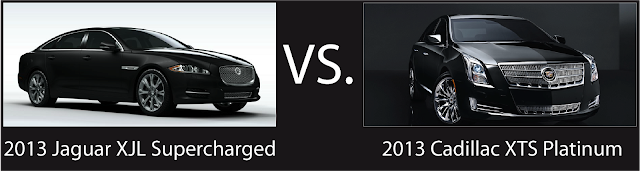 Back-to-Back Road Test: 2013 Jaguar XJL Supercharged vs 2013 Cadillac XTS Platinum