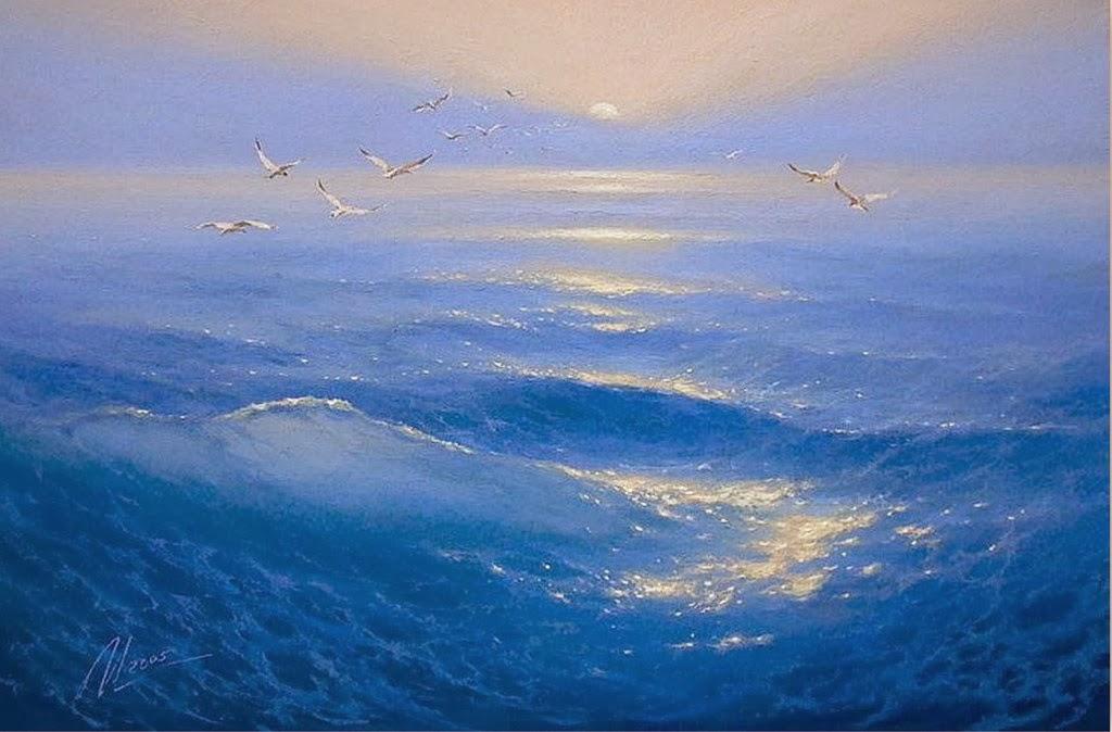 Cuadros modernos pinturas y dibujos pintor del mar for Cuadros de marinas
