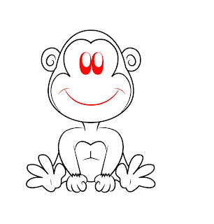 How To Draw A Cartoon Monkey Step 7