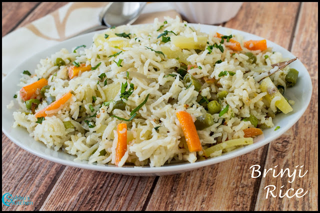 Brinji Rice Recipe | Vegetable Brinji Rice Recipe