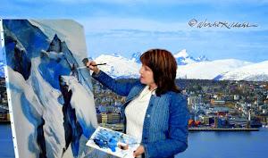 Kunsteren maler Skamtinden,