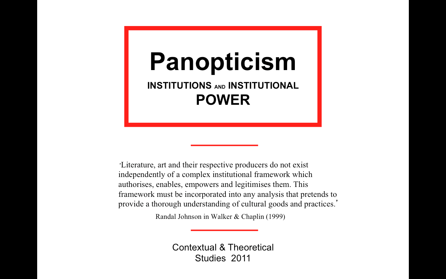 an analysis of foucaults theory of panopticism Beyond the panopticon foucault and surveillance studies published in j crampton but a relatively smooth story can be told of the movement from foucault's panopticism to a 'surveillance society' (lyon (1994) shares deleuze's historical analysis but instead of focusing.