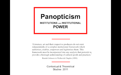 powers of panopticism Lecture one - panopticism an introduction the french post structuralist activist and philosopher michael foucault and his theoretical application of panopticism, about society, institutions and institutional power.