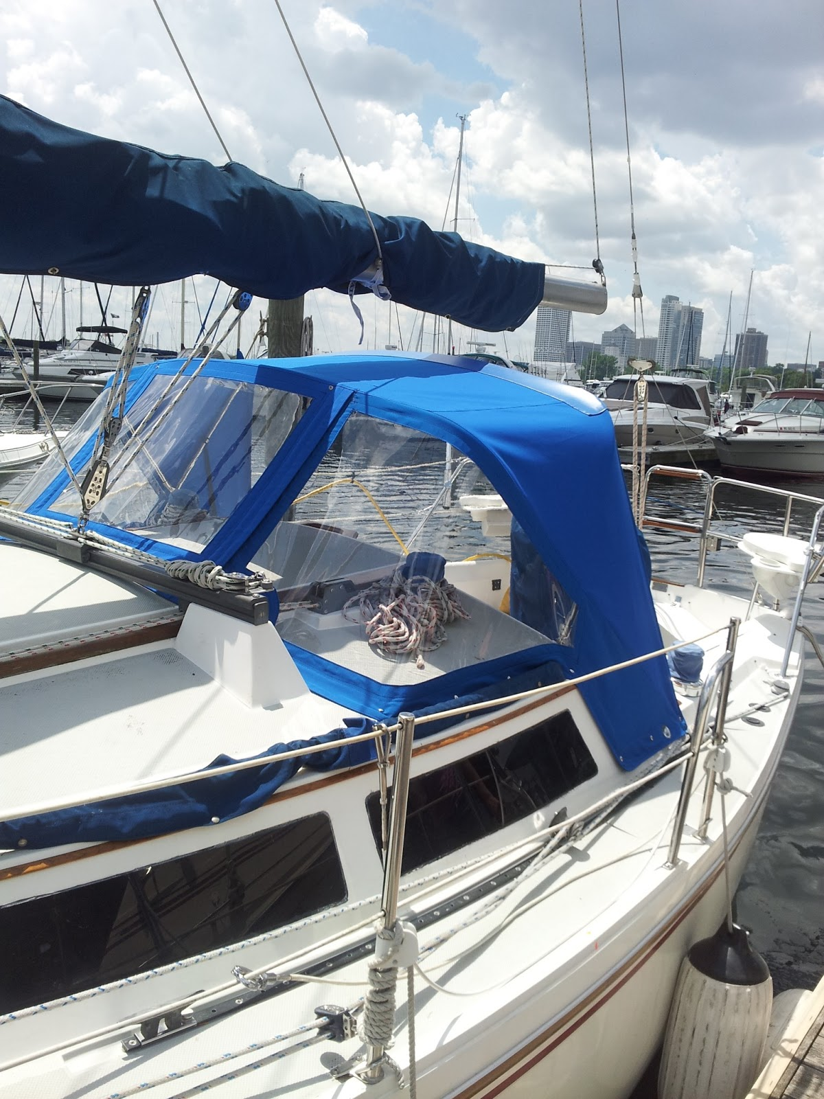 Homestyle Custom Upholstery And Awning Custom Sailboat Dodger