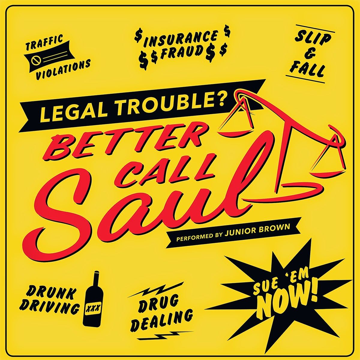 "Record Store Day 2015 Exclusive Better Call Saul Theme 7"" Single Vinyl Record by Junior Brown & SPACELAB9"