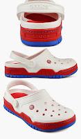 Sandal Anak Crocs warna putih kombinasi merah