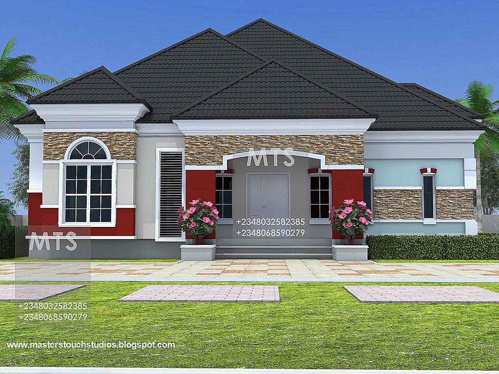 4 bedroom house plans in nigeria for Bungalow house kits