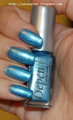 depend, blått, blue, naglar, nails, nagellack, nail polish