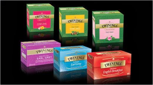 2 000 pack de six différentes variétés des thés Twinings