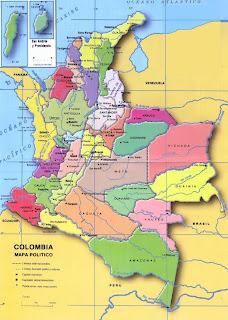 Mapa de Colombia - El mapa de Colombia - Colombia en mapa - Mapa Colombia