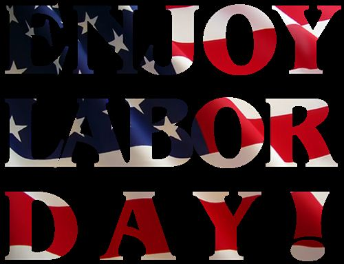 Best Labor Day Photos: American Flag Behind Enjoy Labor Day Words