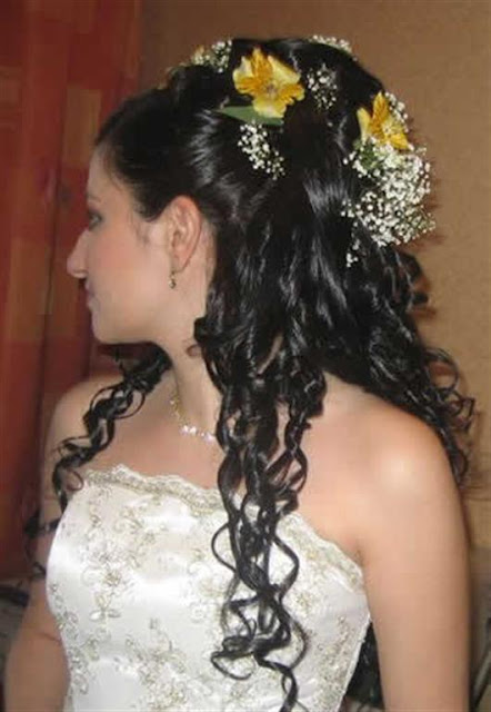 Bridal Wedding Curly Hairstyles