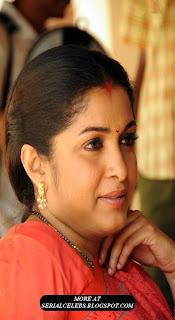 Ramya Krishnan in red saree