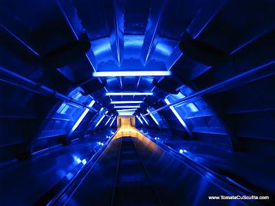 in interiorul atomium-ului