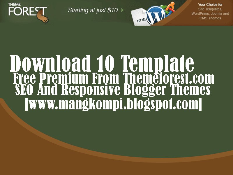 10 Template Free Premium 2014 Themeforest