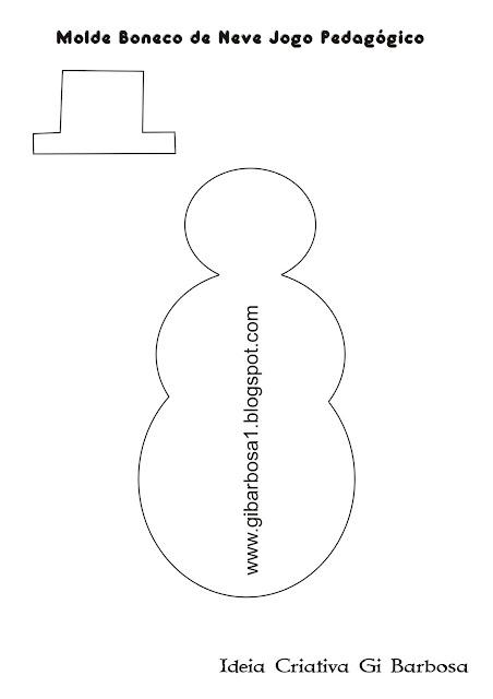 Molde Jogo Pedagógico Número e Quantidade Projeto Natal