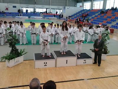 Podium campeonato Judo Castilla y Leon