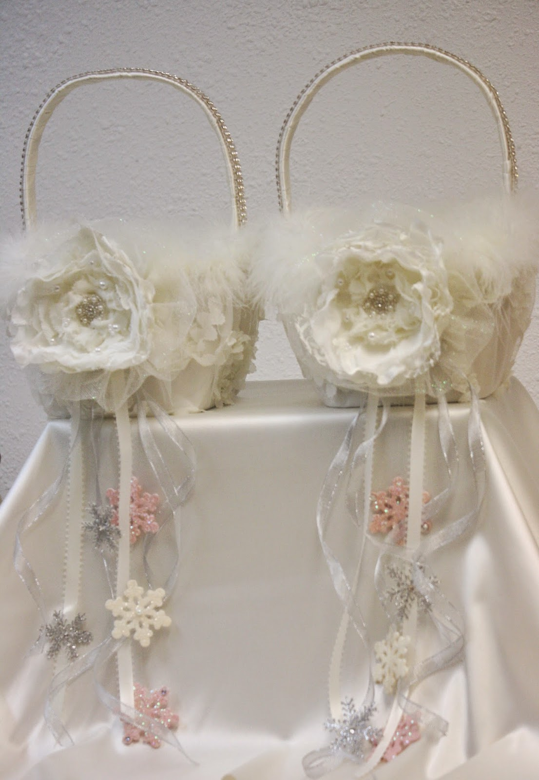 How To Make Flowers Girl Basket : His hers and ours diy winter wedding flower girl basket
