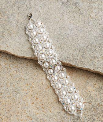 Easy 2-Needle RAW Beaded Pearl Bracelet Tutorial ~ The Beading ...
