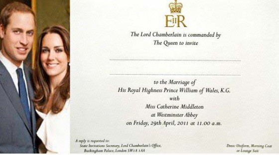 the royal wedding invitation