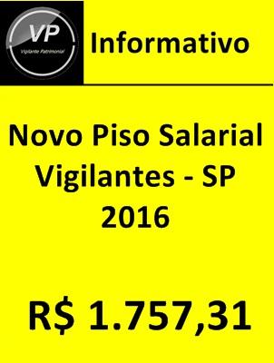 Reajuste Salarial Vigilantes SP 2016