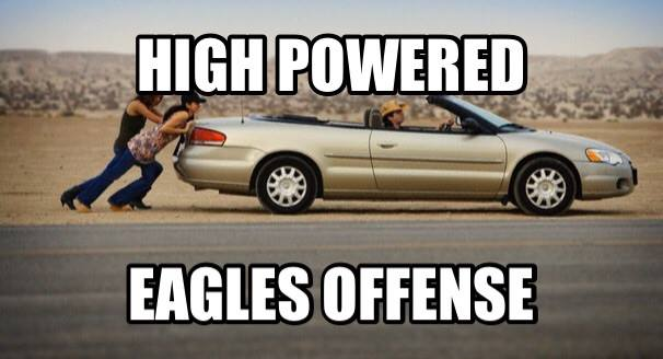 high powered eagles offense.- #eagleslose #esgleshaters