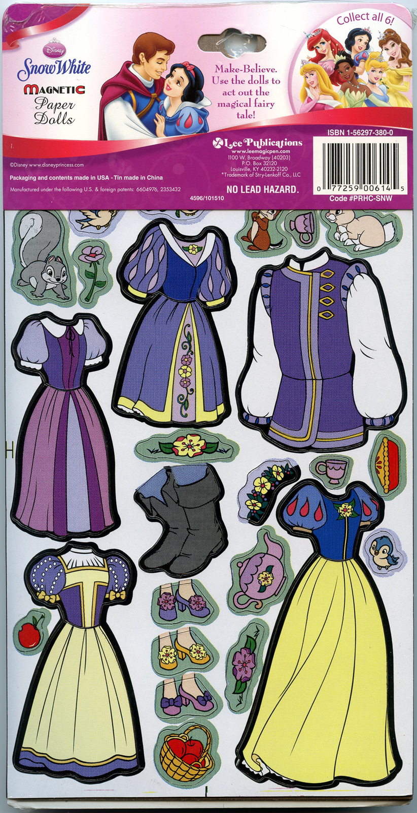 & Filmic Light - Snow White Archive: 2012 Snow White Magnetic Paper Dolls