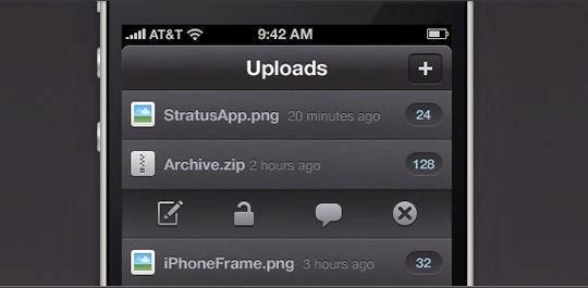 iPhone App PSD
