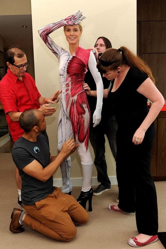 Heidi Klum, Halloween costume 2011, prepared by Martin Izquierdo