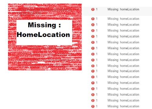 Como corrigir o erro Missing HomeLocation