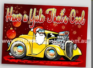 Art-and-Technology: Have a Yule That's Cool - Hot Rod Xmas Cards