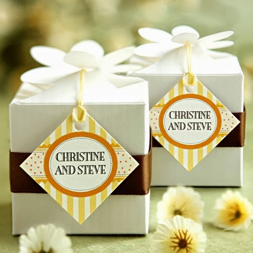 Wedding Favor Tags Diamond : Beautiful Bridal: Diamond Shaped Wedding Favor Tags