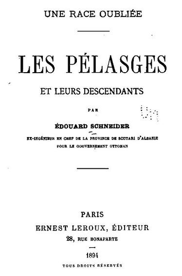 les Pélasges et leurs descendants