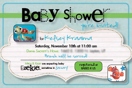 finding nemo baby shower invitations nonsensical invites