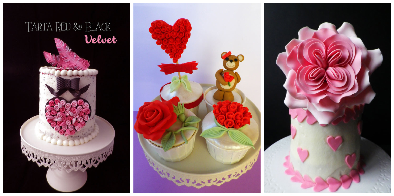 tarta cupcakes san valentín party valentine's