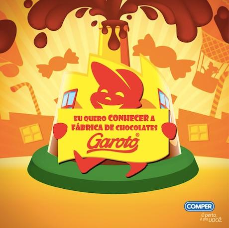 Promoção Visitar a fábrica de chocolates Garoto