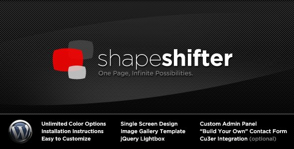 ShapeShifter One Page Wordpress Theme Free Download by ThemeForest.