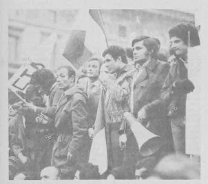 FEBBRAIO 1971 MILANO MANIFESTAZIONE MAGGIORANZA SILENZIOSA