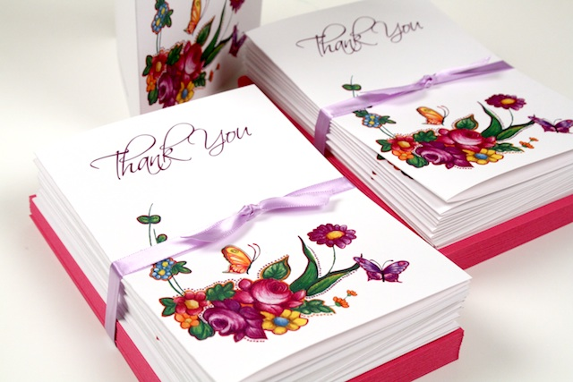 Lilac and Pink WeddingTable Cards and Thank You Cards