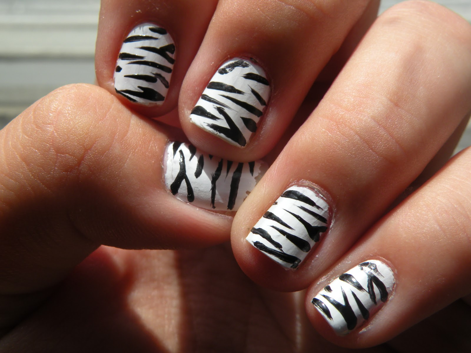 Nail Designs Zebra Print | Nail Art Designs