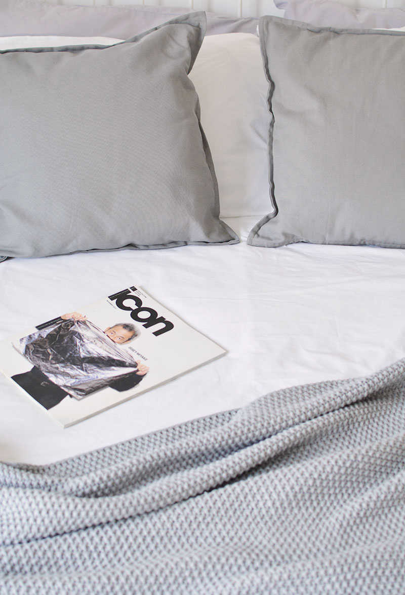scandi bed styling