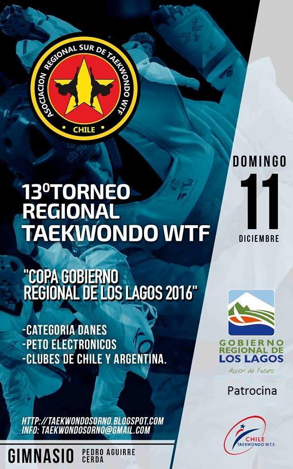 13° TORNEO REGIONAL DE TAEKWONDO WTF   OSORNO - CHILE