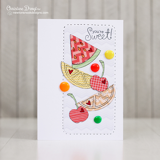 Sweet Fruit card by Christine Drogt | Sweet Summer Stamp set | Newtons Nook Designs