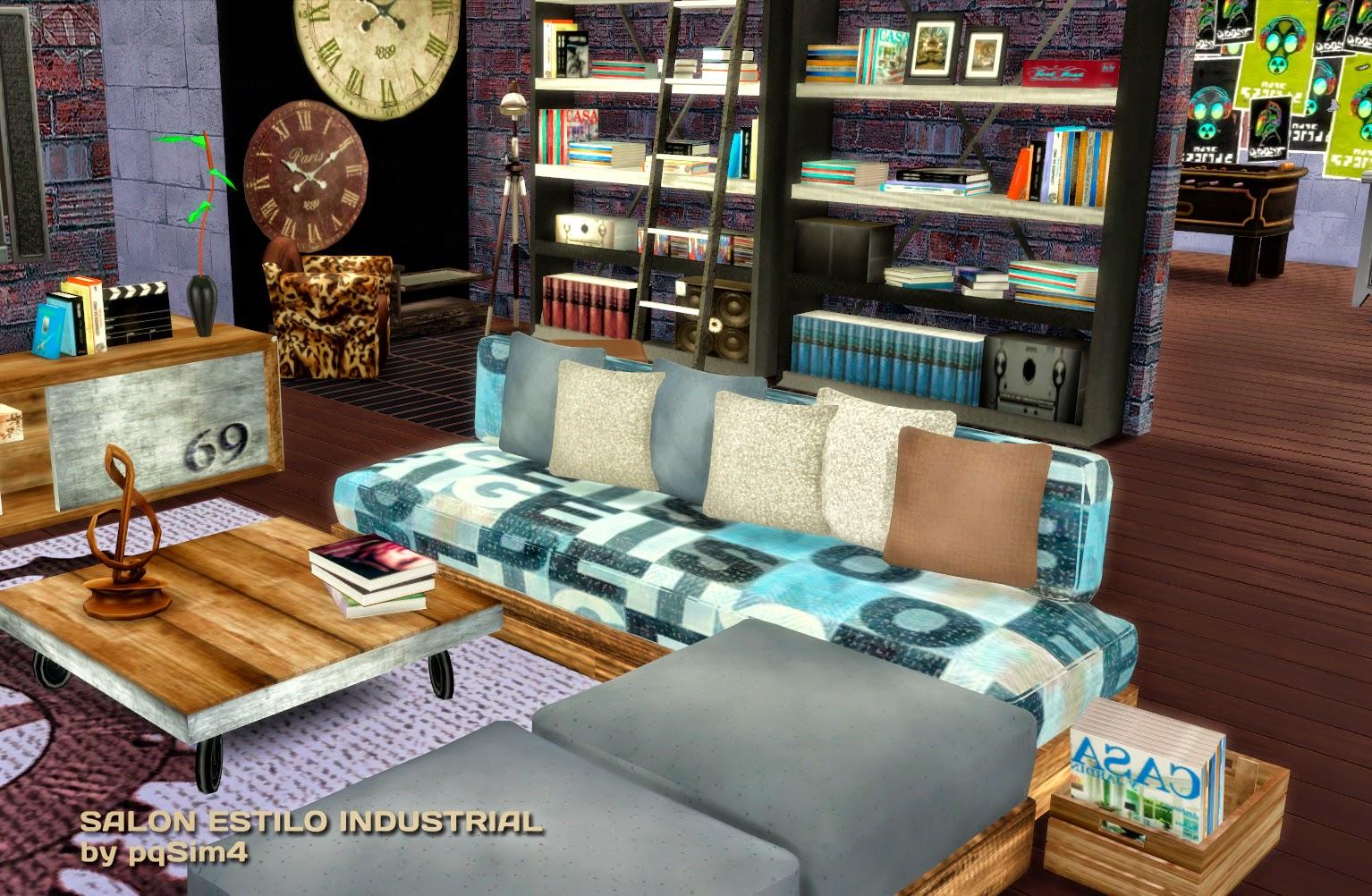 Sims 4 sal n estilo industrial - Salon estilo industrial ...