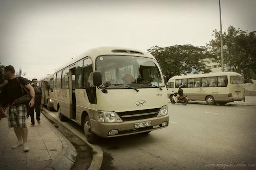Van from Hanoi to Halong Bay