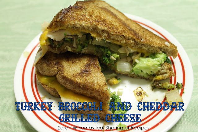 Turkey, Broccoli, & Cheddar Grilled Cheese - not your normal grilled cheese! #turkey #broccoli #grilledcheese #sandwich